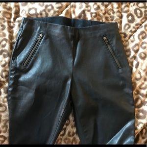 Pam & Gela Black Leather-like Skinny Pants